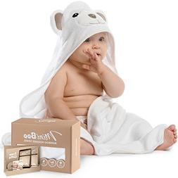 Premium Ultra Soft Organic Bamboo Baby Hooded Towel with Uni