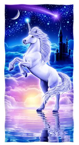 Unicorn Cotton Beach Towel