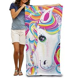 Unicorn Women's Men's Personalized Highly Absorbent Bath Tow