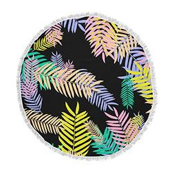 KESS InHouse Vasare Nar Tropical Palm 90s Black Multicolor A