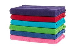 KAUFMAN- 32 X 62 VELOUR , CHUBBY BEACH AND POOL TOWELS, 2 PC