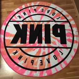 VIctoria Secret Pink Round Beach Towel- Pink Tie Dye!
