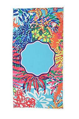 SOFTBATFY Watercolor Tropical Microfiber Beach Towel-Best fo