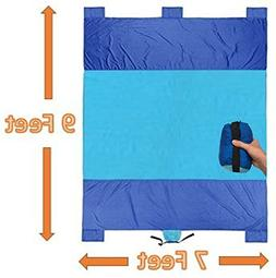 Snap Waterproof Beach Blanket  with Parachute Nylon for Picn