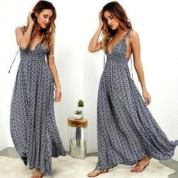 Women Boho Long Maxi Dress Ladies Cocktail Party Evening Sum